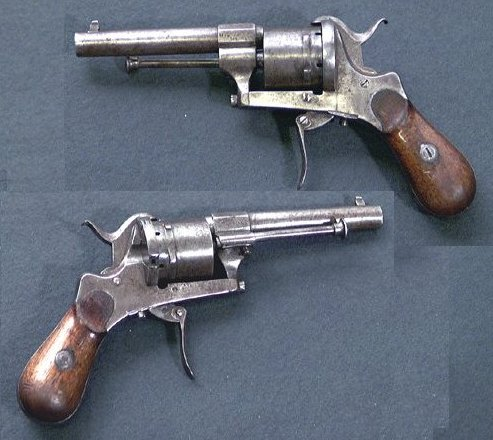 7mm belgian Pinfire Revolver