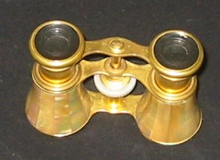 Antique French Colmont Mother-Of-Pearl Binoculars c 1880's